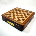 Top Opening Personalised Wooden Chess Set, ref TOCSS